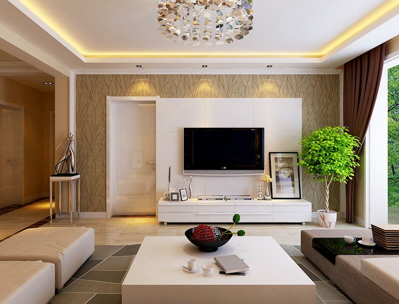 后现代风格电视墙背景效果图一览