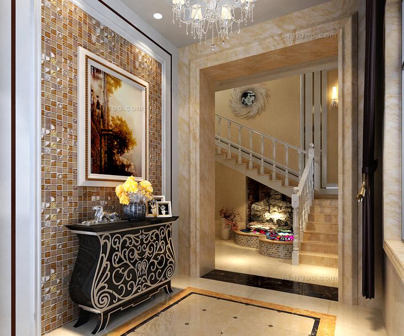 【玄关设计】玄关背景墙装修效果图 客厅玄关墙面装饰