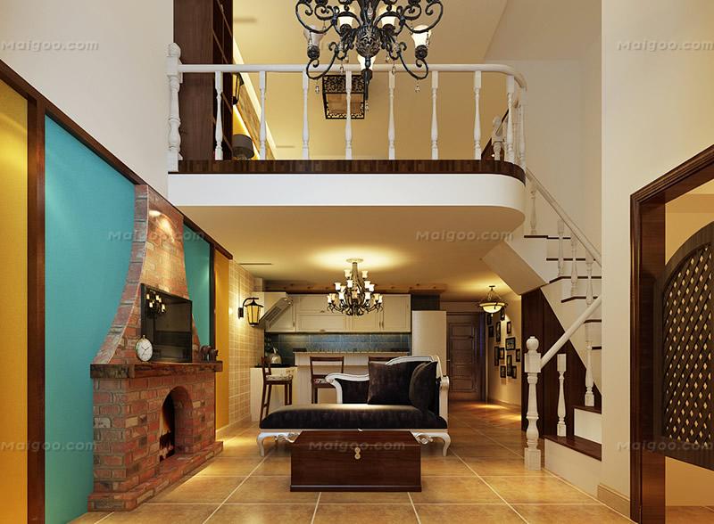 复式楼楼梯设计效果图 复式楼梯装修效果图图片