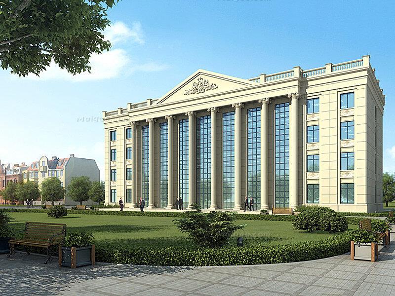 欧式办公楼效果图 最新欧式写字楼效果图集锦图片
