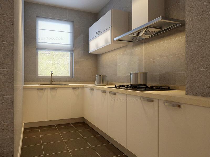 简约风格两室一厅厨房装修效果图(3/3)