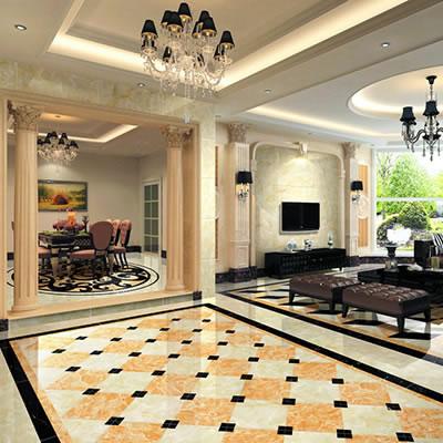 地面铺装效果图大全 客厅瓷砖铺贴效果图欣赏