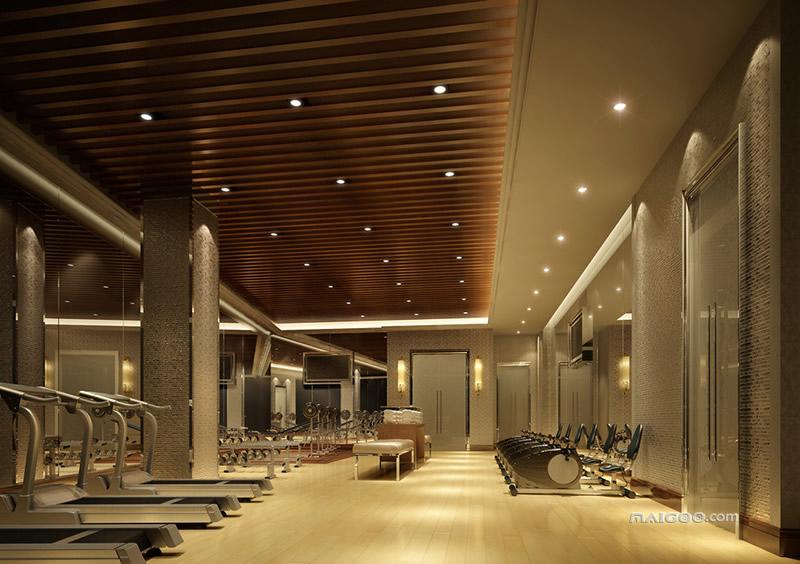 健身房墙面设计效果图 健身房背景墙装修图片图片