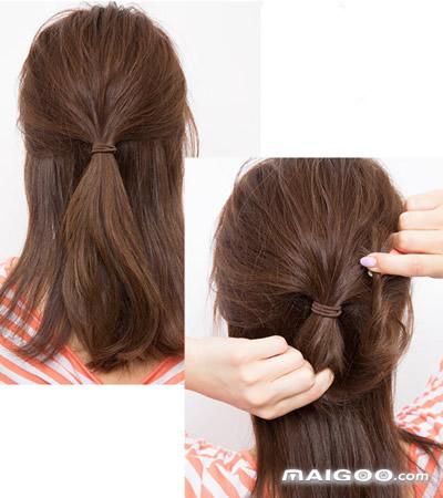 【夏季发型中长发扎法】夏季发型中长发编法 夏季发型图片