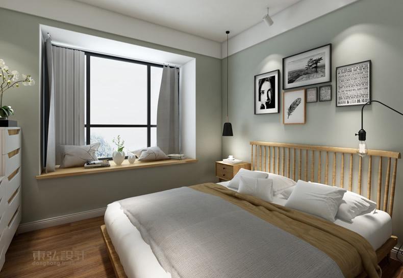 常德新外滩25万打造120㎡北欧风格三居室住宅装修实例鉴赏-卧室(7/7)图片
