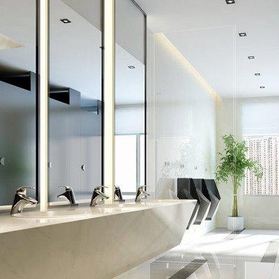 办公楼卫生间装修效果图 写字楼卫生间图片大全