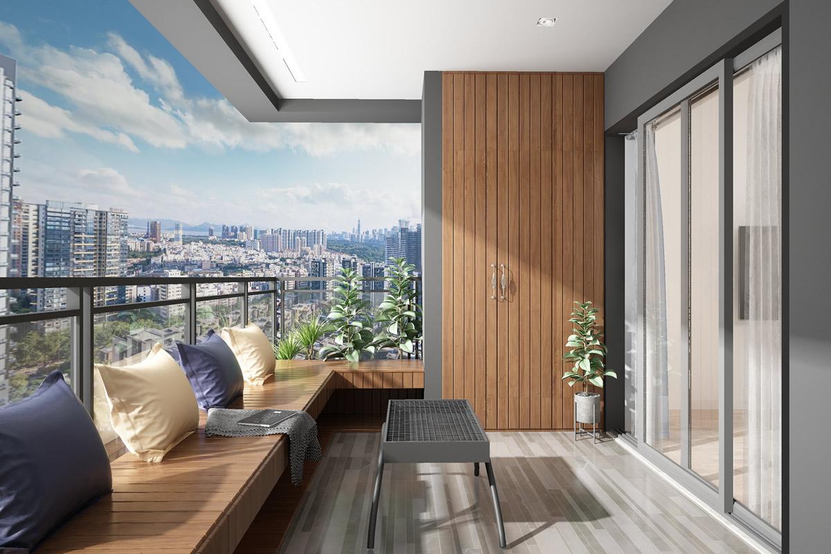 卧室阳台装修效果图欣赏 卧室带阳台装修效果图