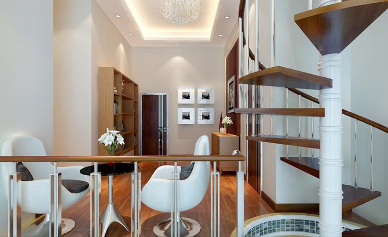 【现代风格装修效果图】现代简约200平米复式别墅装修图片
