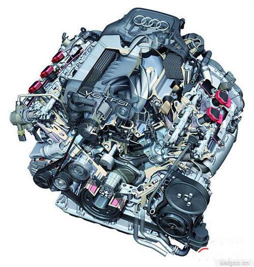 0升机械增压v6发动机自从应用在奥迪s4上开始就屡受好评,已经四届入围图片