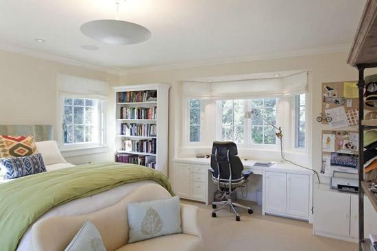 飘窗改书桌怎么设计 飘窗改书桌效果图图片