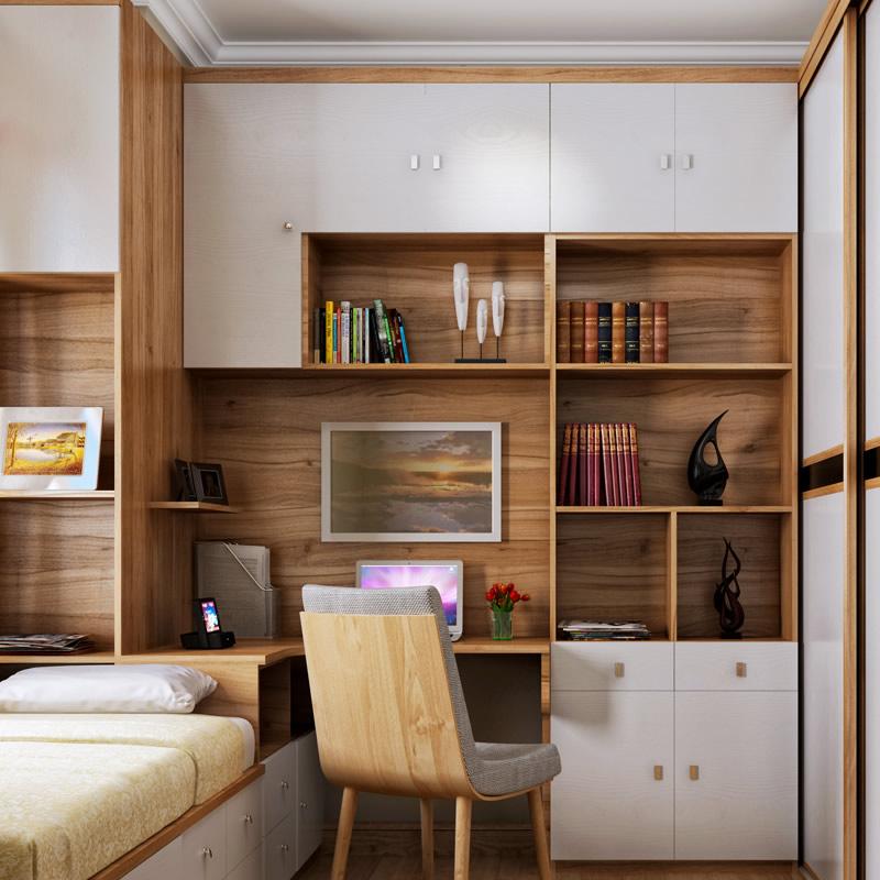 索菲亚家具定制 全屋卧室书柜 衣柜 床组合(10/17)图片