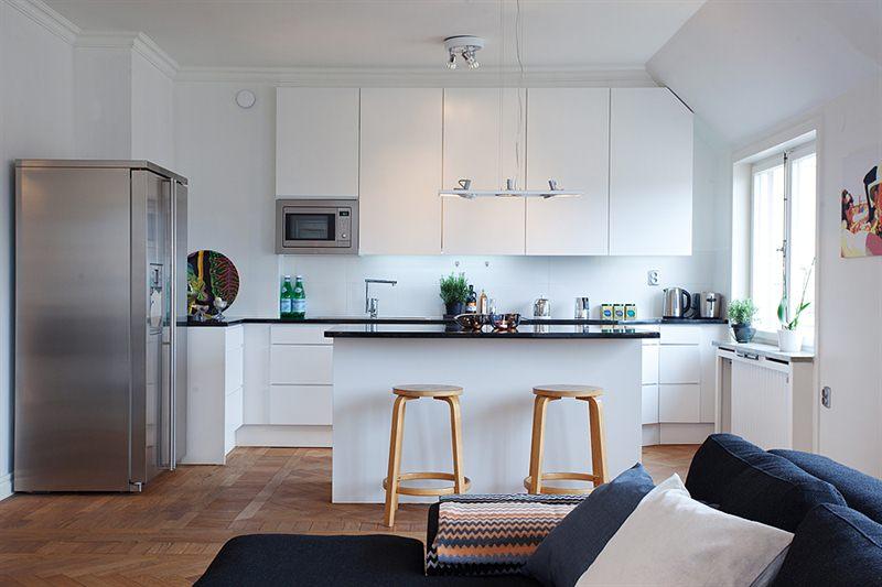 北欧风格公寓装修效果图 单身男的纯净生活图片